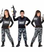 Politie swat verkleed pak pakje voor kinderen